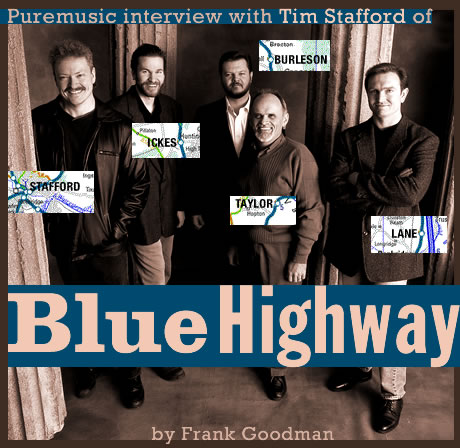 Puremusic interview with Tim Stafford of Blue Highway